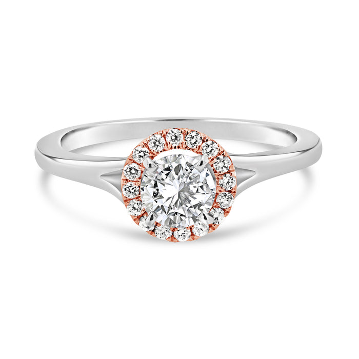 .62CT White/Rose Gold Engagement Ring