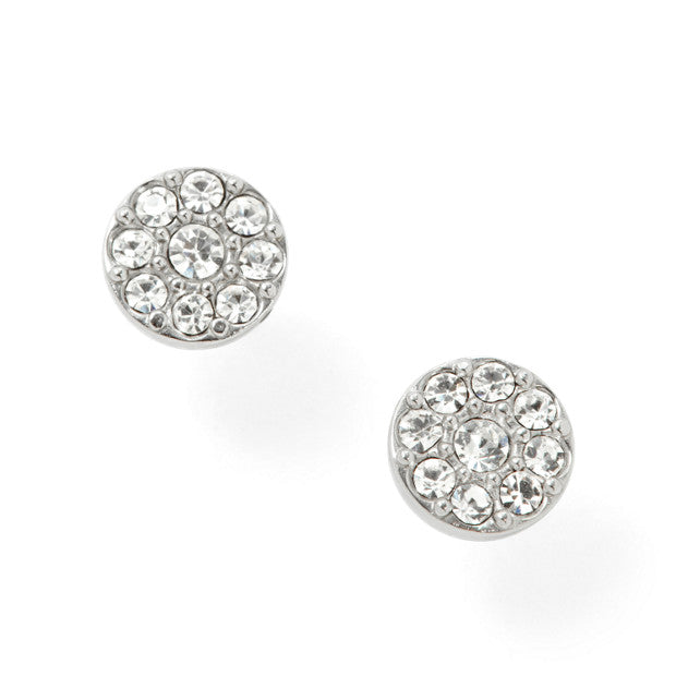 Fossil Disc Studs: Silver