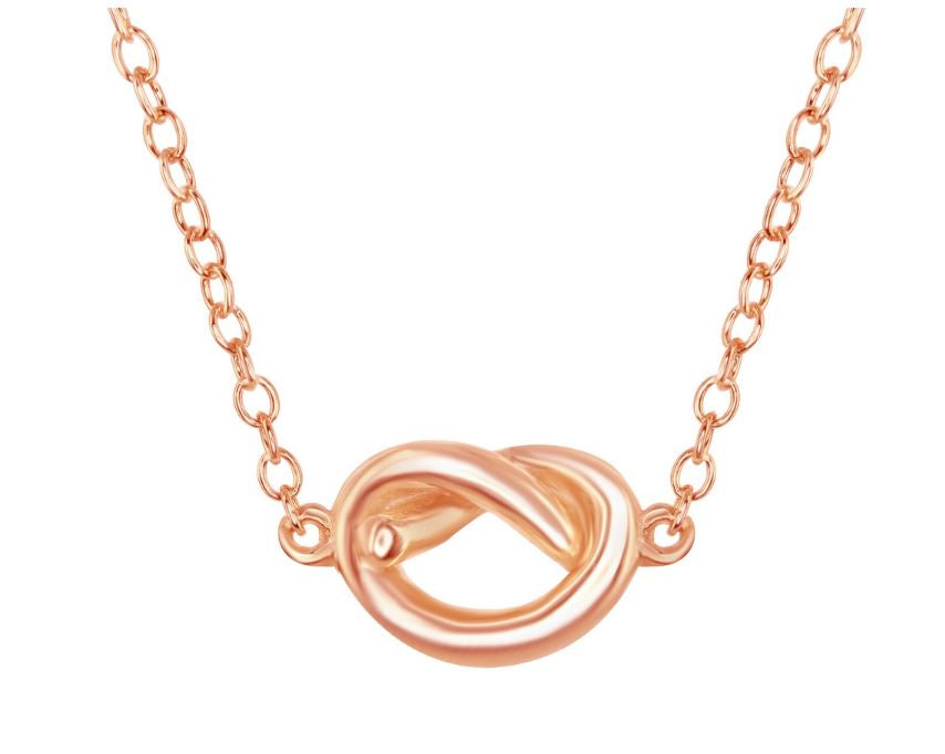 Love Knot Necklace: Rose