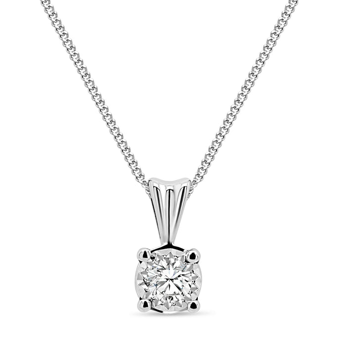 .20CT Diamond Illusion Necklace