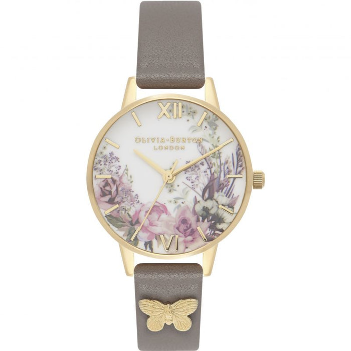 Olivia Burton Enchanted Garden Gold & London Grey Watch