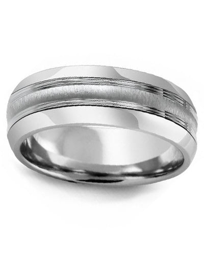 8.5mm Cobalt & White Gold Wedding Band