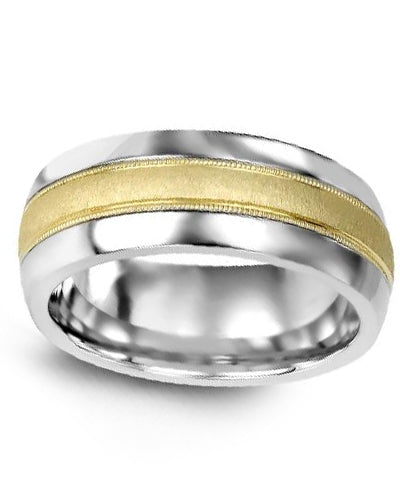 6mm Cobalt & Yellow Gold Wedding Band