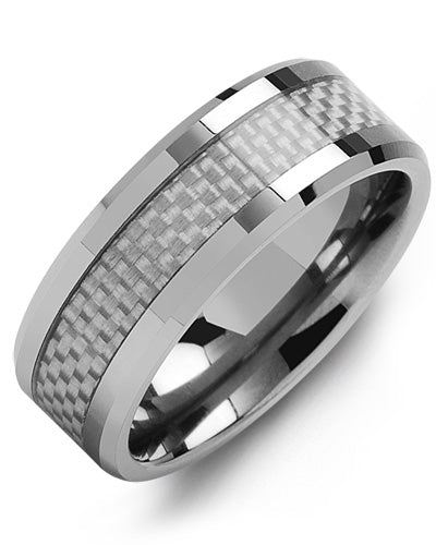 8mm Tungsten/Carbon Fiber Wedding Band