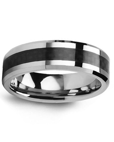 7mm Tungsten & Carbon Fiber Wedding Band