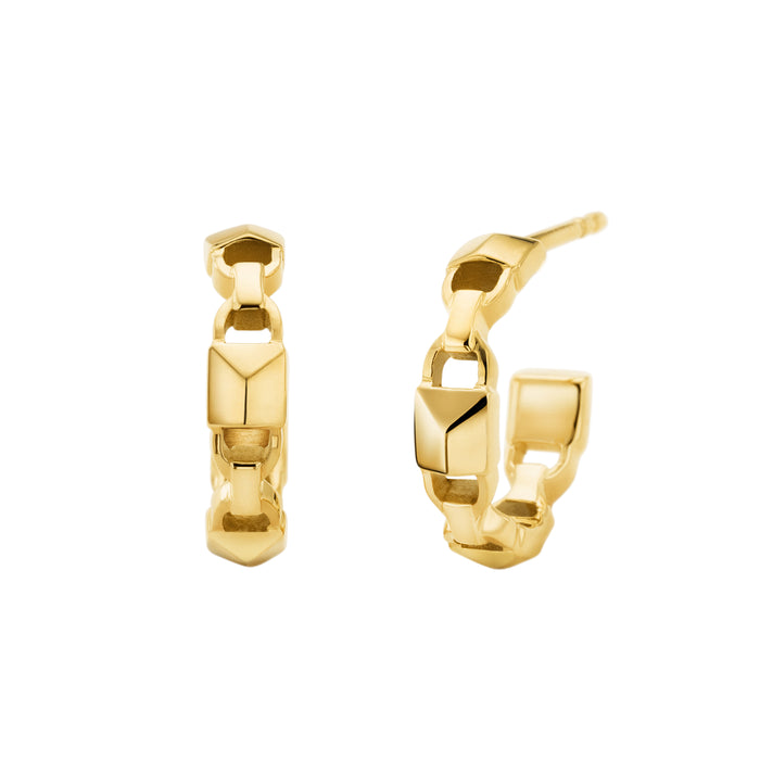 Michael Kors Mercer Link Hoops: Gold