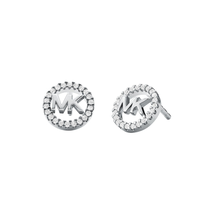 Michael Kors Logo Earrings: Silver