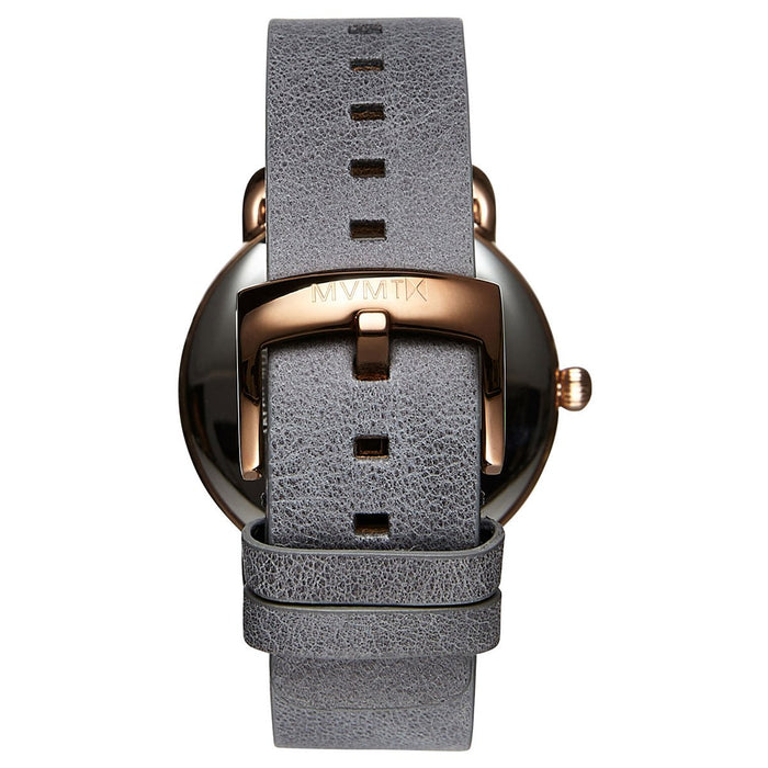 MVMT Revolver Watch: Grey Leather