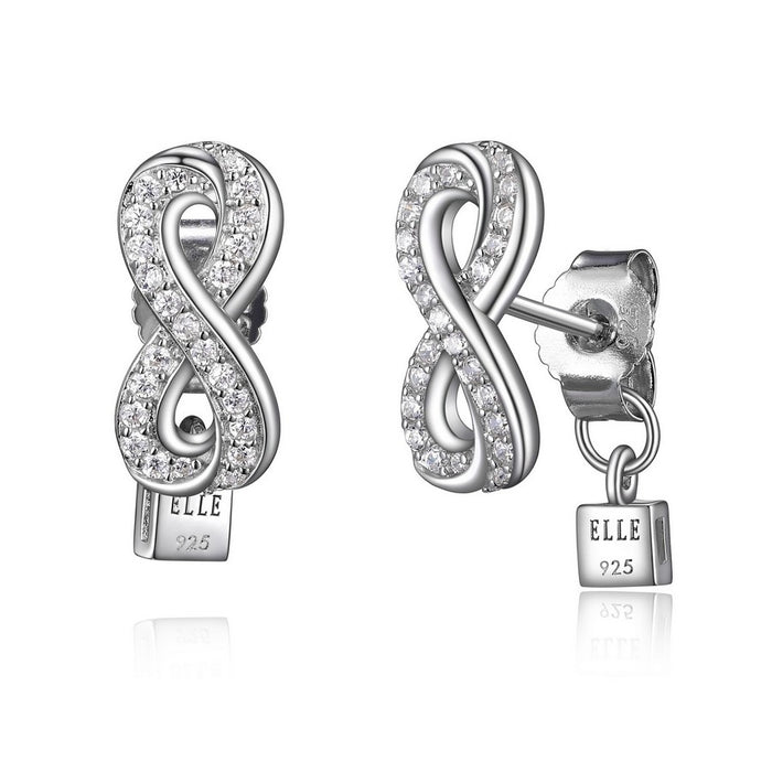Elle Scintillation Infinity Earrings