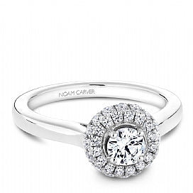 .72CT Noam Carver Halo Diamond Engagement Ring