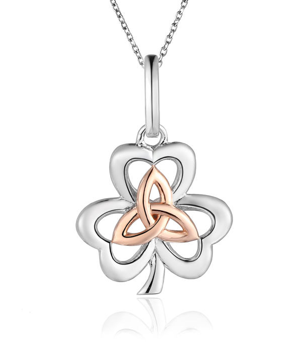 Lucky Clover Necklace: Two Tone
