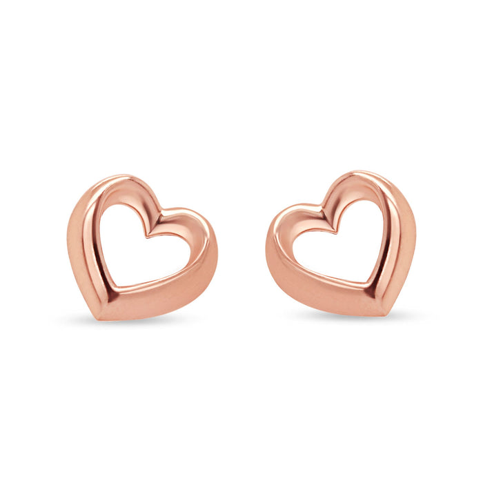 Rose Gold Heart Earrings
