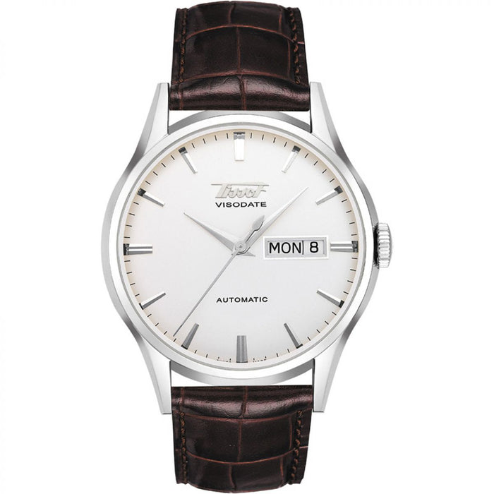 Tissot Heritage Visodate Automatic Watch: Brown Leather