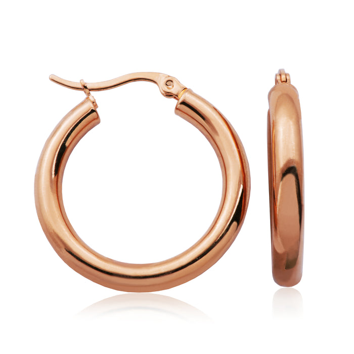 Steelx 30mm Hoops: Rose Tone