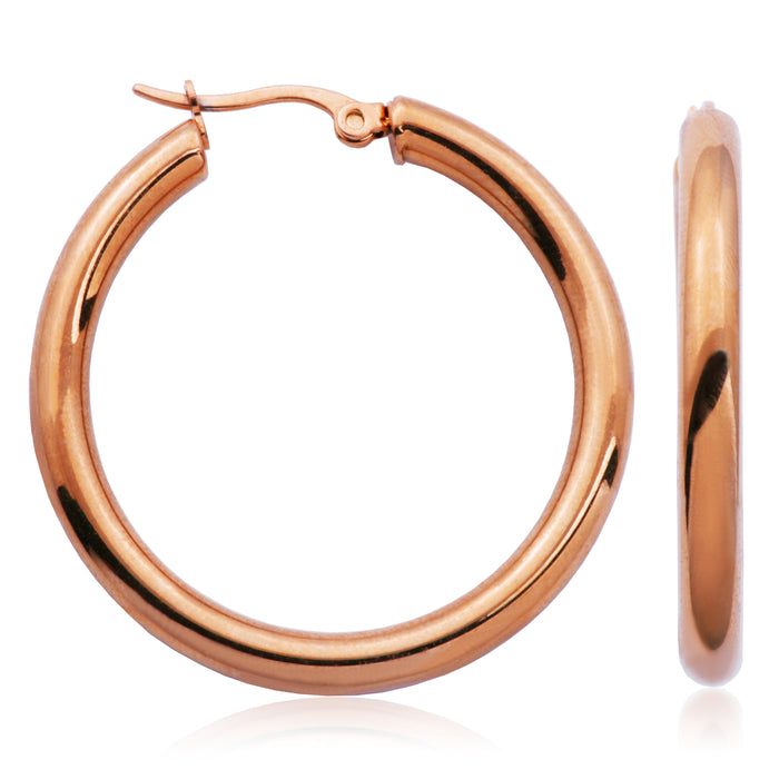 40mm Steelx Hoops: Rose