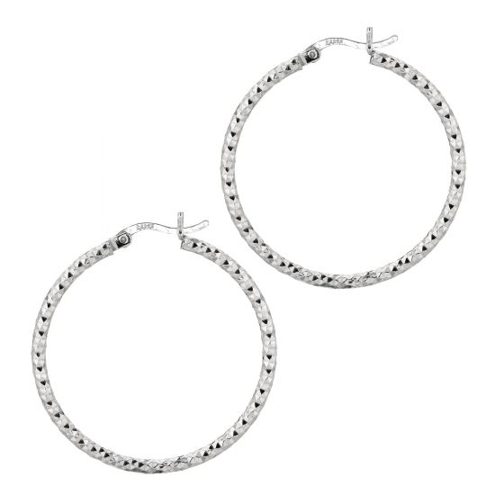 30mm Diamond Cut Hoops