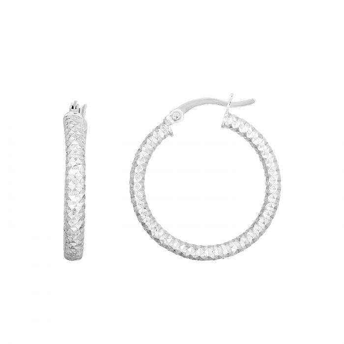 20mm Diamond Cut Hoops