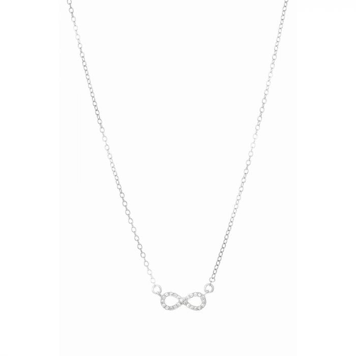 Mini Pave Infinity Necklace