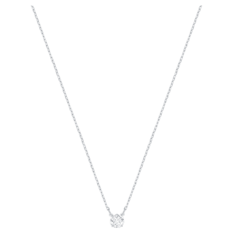 Swarovski Attract Round Necklace: White