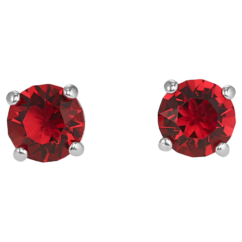 Swarovski Attract Round Earrings: Red