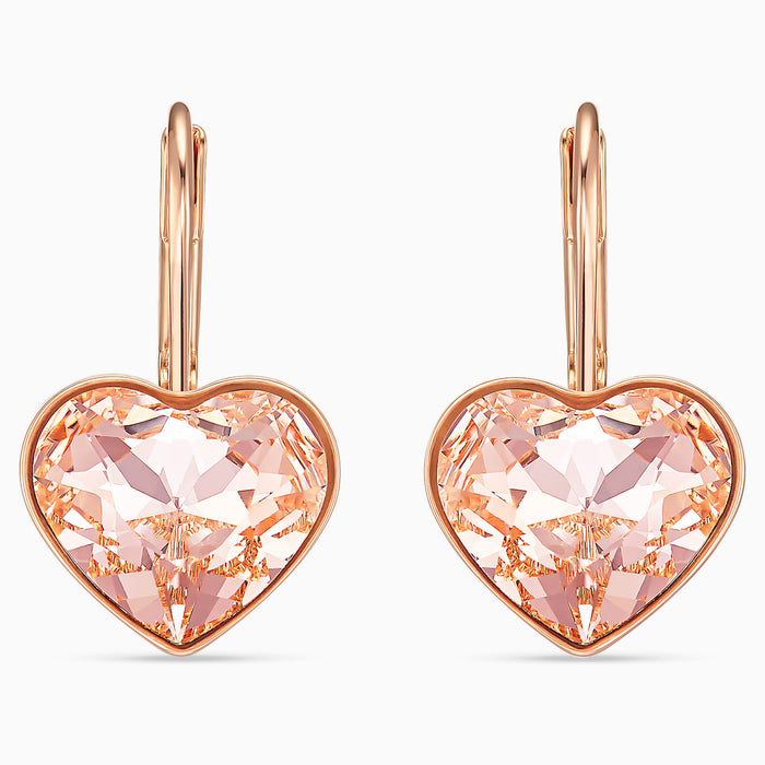 Swarovski Bella Heart Earrings: Pink