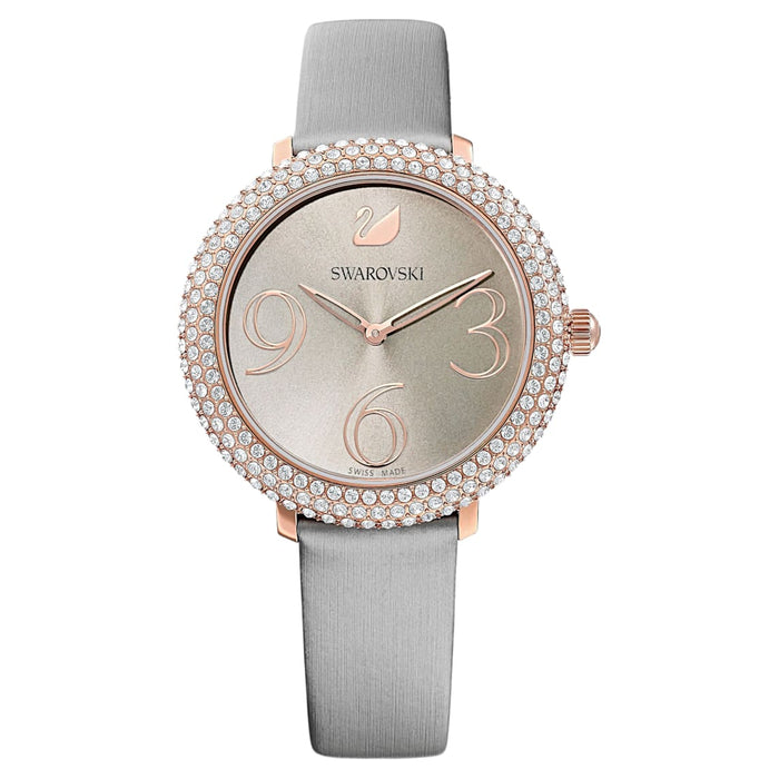 Swarovski Crystal Frost Watch: Grey