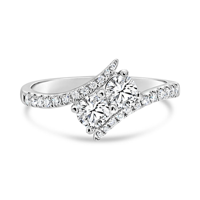 .70CT Two Stone Engagement Ring