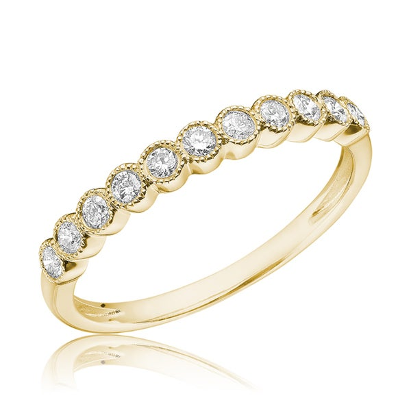 .25CT Semi Eternity Diamond Band: Gold
