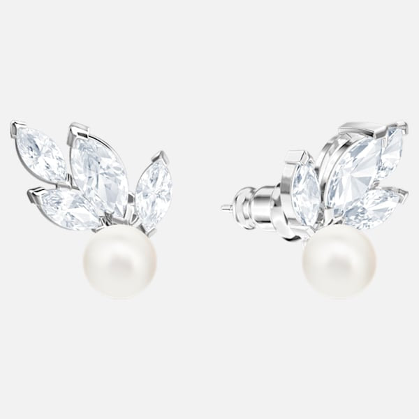 Swarovski Lousion Earrings: Pearl