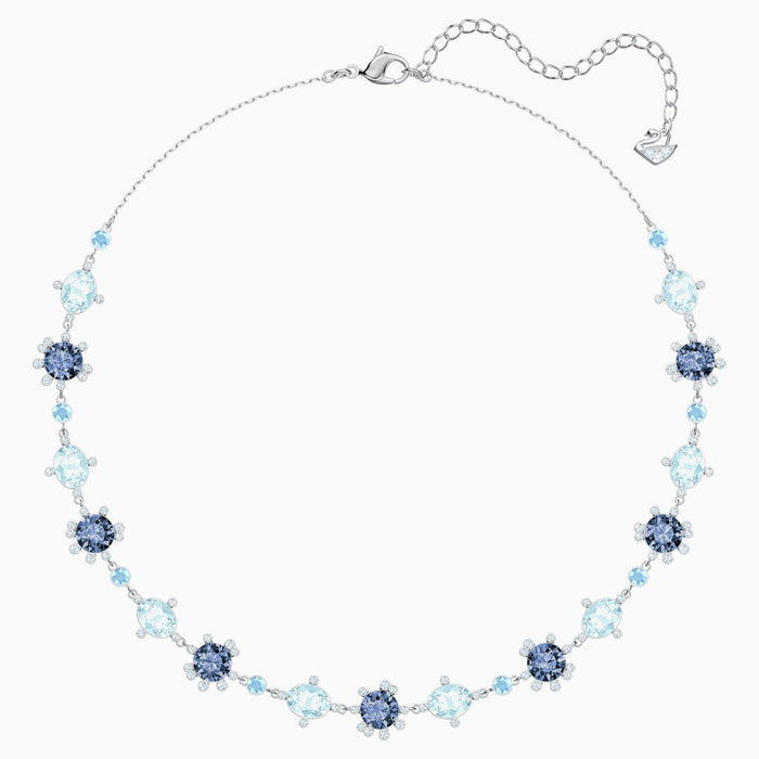 Swarovski Olive Necklace: Blue