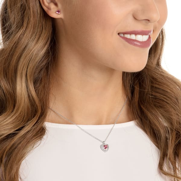Swarovski One Necklace & Earring Set: Red