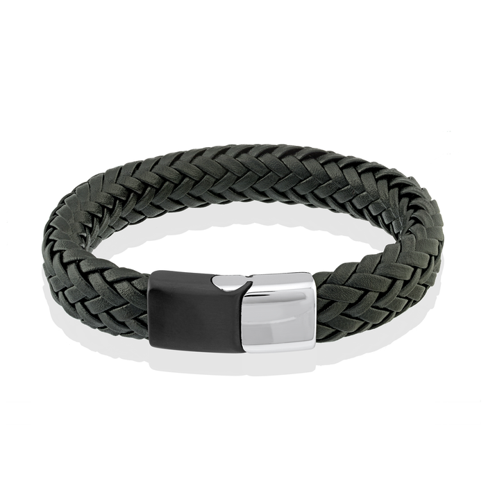Italgem Braided Leather Bracelet