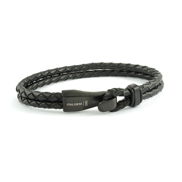 Italgem Braided Leather Bracelet: Hook