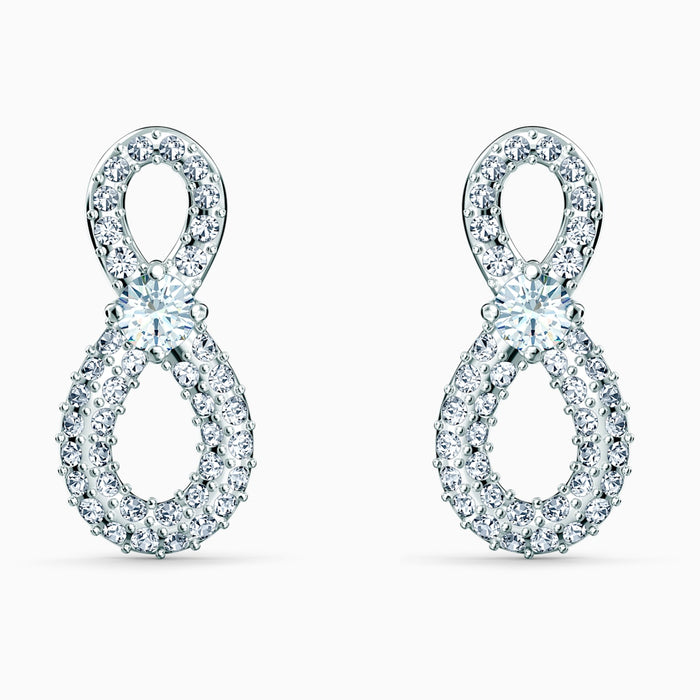 Swarovski Infinity Mini Earrings: White