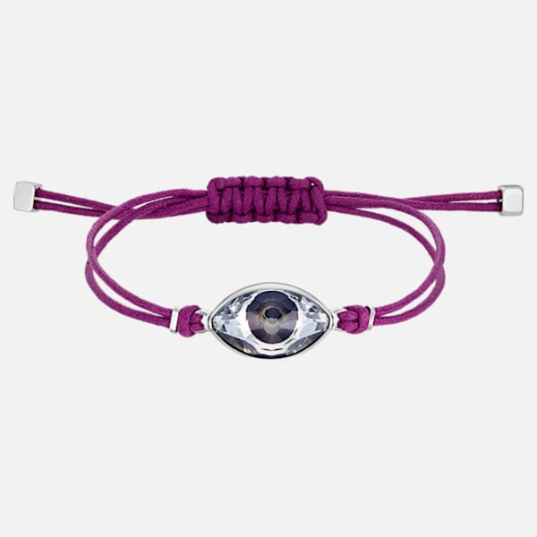 Swarovski Power Bracelet: Evil Eye Purple