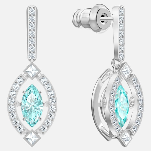 Swarovski Sparkling Dance Earrings: Green