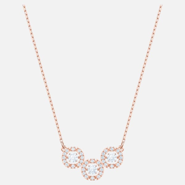 Swarovski Sparkling Dance Trilogy Necklace: Rose
