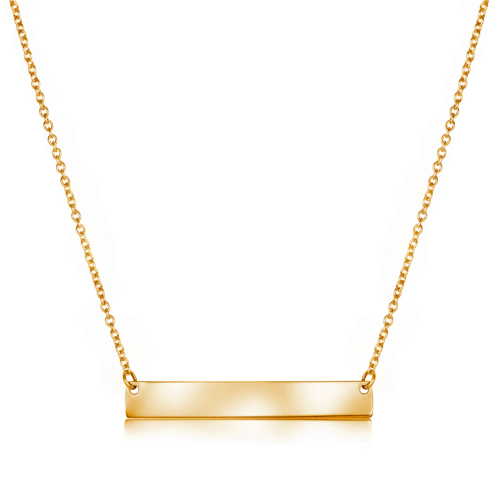 Italgem Bar Necklace: Gold