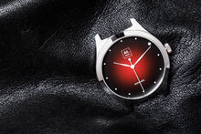 Charger l'image dans la galerie, Montre automatique homme rouge cuir made in France atom Akrone Baltic