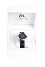 Charger l'image dans la galerie, Montre automatique homme bleu cuir made in France Atom