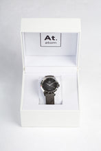 Charger l'image dans la galerie, Montre automatique homme noir cuir made in France atom