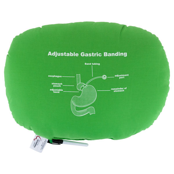 Bariatric Pillow with Adjustable Gastric Banding Diagram