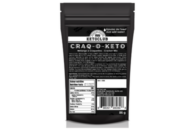 ketoclub keto club céto cétogène clinique reversa option keto craquelin crackers collation snack