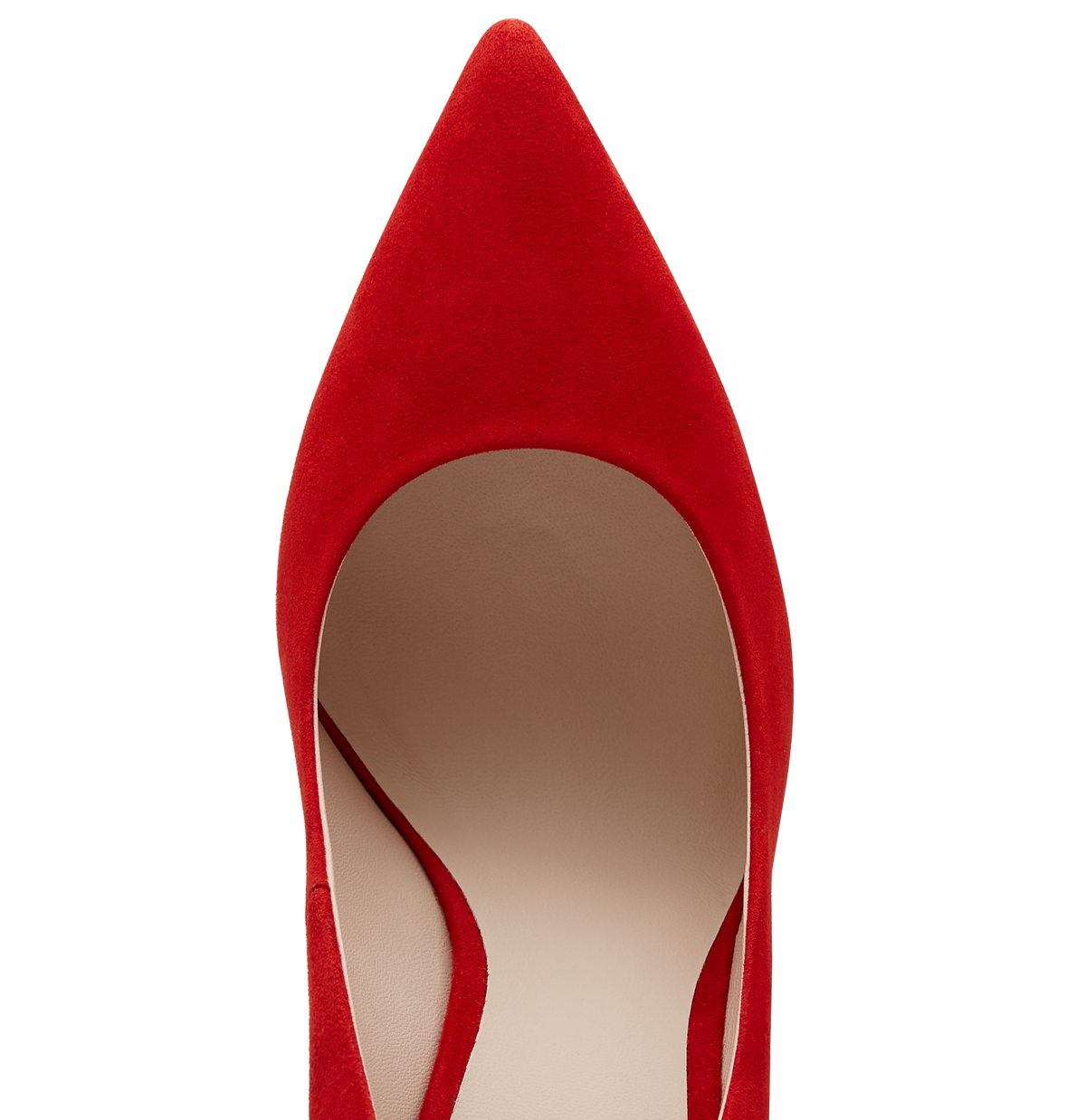 Red Suede Empire Pumps
