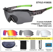 Load image into Gallery viewer, Polarized Designer Cycling Shades Package