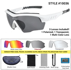 Polarized Designer Cycling Shades Package