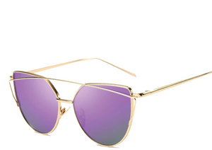 Women's Vintage Mirrored Cat-Eye Shades