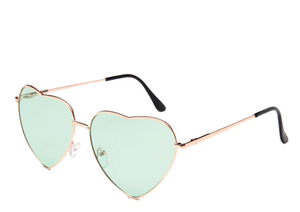 Green Lens Heart Sunglasses