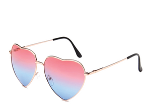 Pink and Blue Heart Sunglasses