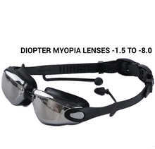 Load image into Gallery viewer, Professional Silicone Myopia Swimming Goggles